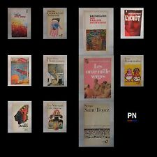 Lot 11 livres Baudelaire Prévert Apollinaire Desnos Sempé Wilde Dostoïevski Vian
