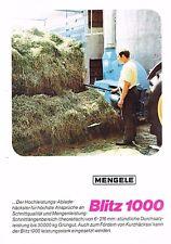 Mengele Abladehäcksler Blitz 1000, orig. Prospekt 1970