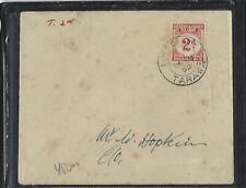 GILBERT & ELLICE ISLANDS (P0511B) 1950 UNPAID LOCAL COVER POSTAGE DUE 2D TARAWA