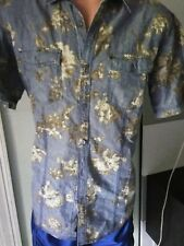 Cubavera Mens Short Sleeve Shirt Size M Medium Floral @1