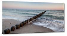 Leinwand Bild Leinwand Bild Ostsee Strand Warnemünde Urlaub Meer Sand Flut Sonne