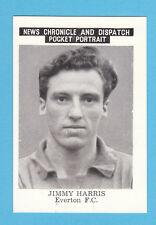 FOOTBALL - NEWS CHRONICLE - FOOTBALLER CARD  -  HARRIS  OF  EVERTON  - 1955