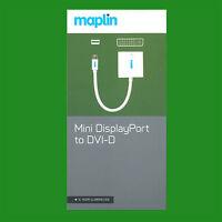 Maplin Mini DisplayPort to DVI-D Cable 1080p HD Resolution for Apple Mac/Monitor