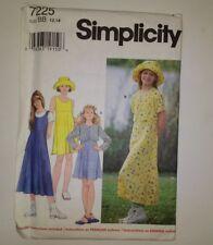 Simplicity 7225 Size 12 14 Girls' Jacket Dress Jumper Hat