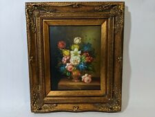 Ornate Framed Oil Painting, Painting 8x10 inches Still Life, Floral, Flowers