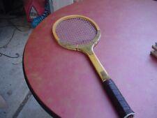 Vintage MacGregor Medallion Tennis Racquet w Brace 4 3/4 Heavy Leather Japan