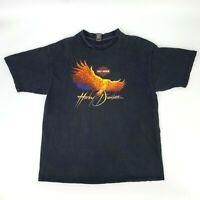 Vintage Harley Davidson Bald Eagle T-Shirt Men's Size 2XL Black Short Sleeve 90s