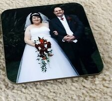 Personalised Coaster any Image, Photo,Logo,Text,Square Coasters, 90 x 90 mm