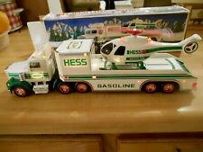 1995 Hess Gasoline Truck W/ Lights & Hellicopter W/ Lights & Turning Propeller