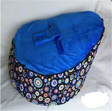Cosy New dark blue Baby Bean Bag Soft Sleeping Bag Portable Seat Without Filling