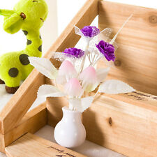 1x Romantic Purple Lilac Mushroom Wall Plug LED Night Light Energy Saving Lamp