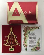 Avon 2005 Collectible Christmas Tree Brooch Pin Nib
