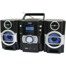 Naxa NPB429 Portable CD/MP3 Player with PLL FM Radio, Detachable Speakers and R