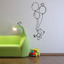 Enfants Chambre crèche mur Teddy Autocollant Vinyle Art Autocollant Vinyle Décoration Murale