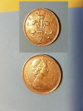 RARE COIN NEW 2 PENCE PEZZO RARO 1971