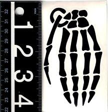 GRENADE GLOVES SKELETON HAND DECAL 2.5 in. x 4.5 in. Black Snowboard Sticker