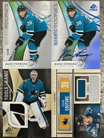 2019-20 SP GAME USED 4x SHARKS JERSEY AUTO LOT FERRARO JONES COUTURE /38 /75 RC