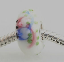1pcs SILVER MURANO GLASS BEAD LAMPWORK Animal Fit European Charm Bracelet DW133