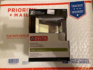 NEW - Delta 77535-SS Ara Robe Hook  Chrome - NEW