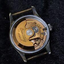 Vintage Breitling Watch 17 Jewel Mechanical  Watch 1940's -1950's WORKING