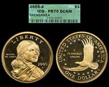 2005-S ICG PR70 DCAM Sacagawea Dollar ** Deep Cameo **