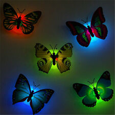 LED Glowing 3D Butterfly Night Light Sticker Art Design Mural Home Wall Decal