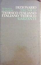DIZIONARIO TECNICO TEDESCO-ITALIANO. ITALIANO-TEDESCO DI MAROLLI GUARNIERI