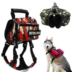 Pet Dog Saddle Bag Outdoor Travel Hiking Camping Carrier Backpack Harness