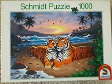 1000 piece jigsaw puzzle Schmidt colourful tigers good condition