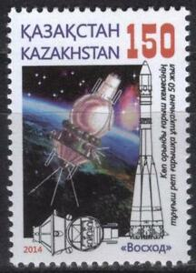 2015.Kazakhstan.The 1st spaceflight of the multimanned spaceship.Sc.729. MNH.