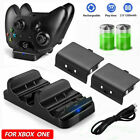 For Xbox One S/X/Elite Controller Charging Charger Dock Station+ 2x Battery Pack