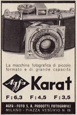 Z3762 Macchina fotografica Agfa KARAT - Pubblicità d'epoca - 1939 advertising