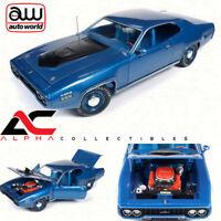 AUTOWORLD AMM1065 1:18 1971 PLYMOUTH GTX HARDTOP B5 BLUE 440