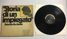 """Fabrizio De Andrè STORIA DI UN IMPIEGATO 33 Giri 12"""" PA-LP 49 1973 Andre"""