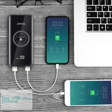 2USB Qi Wireless Charger 20000mAh Power Bank Ladegerät für iPhone 8 X XR XS Max