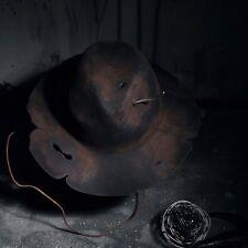 ByTheR Custom Burning Vintage Grunge Woolen Brown Fedora Western Fitted Hat AU