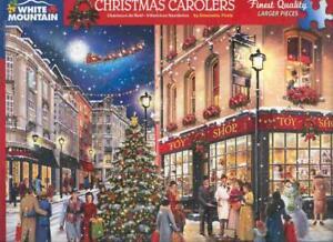 Simonetta Pirola White Mountain Jigsaw Puzzle Christmas Carolers NIB