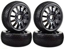 Apex RC Products 1/8 Off-Road Buggy Black 12 Spoke Wheels/Nub Tires #6036 -2Pack