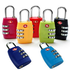 TSA Resettable 3 Digit Combination Lock Travel Luggage Suitcase Code Padlock