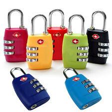 TSA Resettable 3 Digit Combination Lock Travel Luggage Suitcase Code Padlock