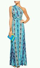 TART COLLECTIONS Infinity printed stretch-modal jersey halterneck maxi dress