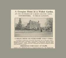 1936 Georgian House In Walled Garden 5 Miles Huntercombe Golf Links, £3250
