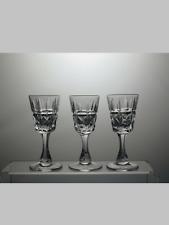 More details for lead crystal cut glass set of 3 liqueur glasses 4 1/8