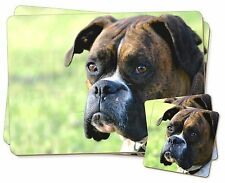 Brindle and White Boxer Dog Twin 2x Placemats+2x Coasters Set in Gift , AD-B27PC