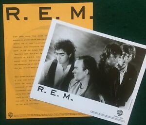 R.E.M ~ Original US WB 1988 Promo Press Kit for Green.  8 x10 Photo & 6 page Bio