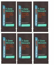 6 T-Zone Charcoal Clear Out Nose Pore Strips Deep Cleansing Blackheads & Spots