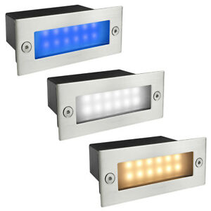 LED Stainless Steel Mini Brick Light Outdoor Garden Recessed Step Wall Lights