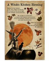 Vintage Halloween A Witch Is Kitchen Blessing Poster Art Print Decor