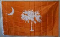 3 x 5 ft South Carolina CLEMSON TIGERS ORANGE Palmetto State Polyester Flag