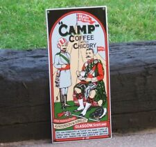 CAMP COFFEE ENAMEL SIGN - FAMOUS IMAGE STUNNING ICONIC RARE ADVERTISING SIGN vgc